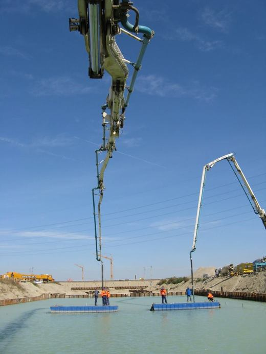 how to work concrete pump